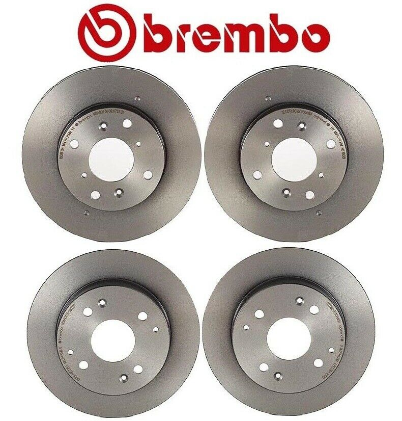 honda accord 98 02 2 3 kit two front two rear disc brake rotors brembo oem ebay. Black Bedroom Furniture Sets. Home Design Ideas
