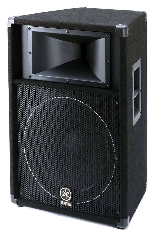 Yamaha s115v 15 two way passive pa speaker ebay for Yamaha 15 speakers
