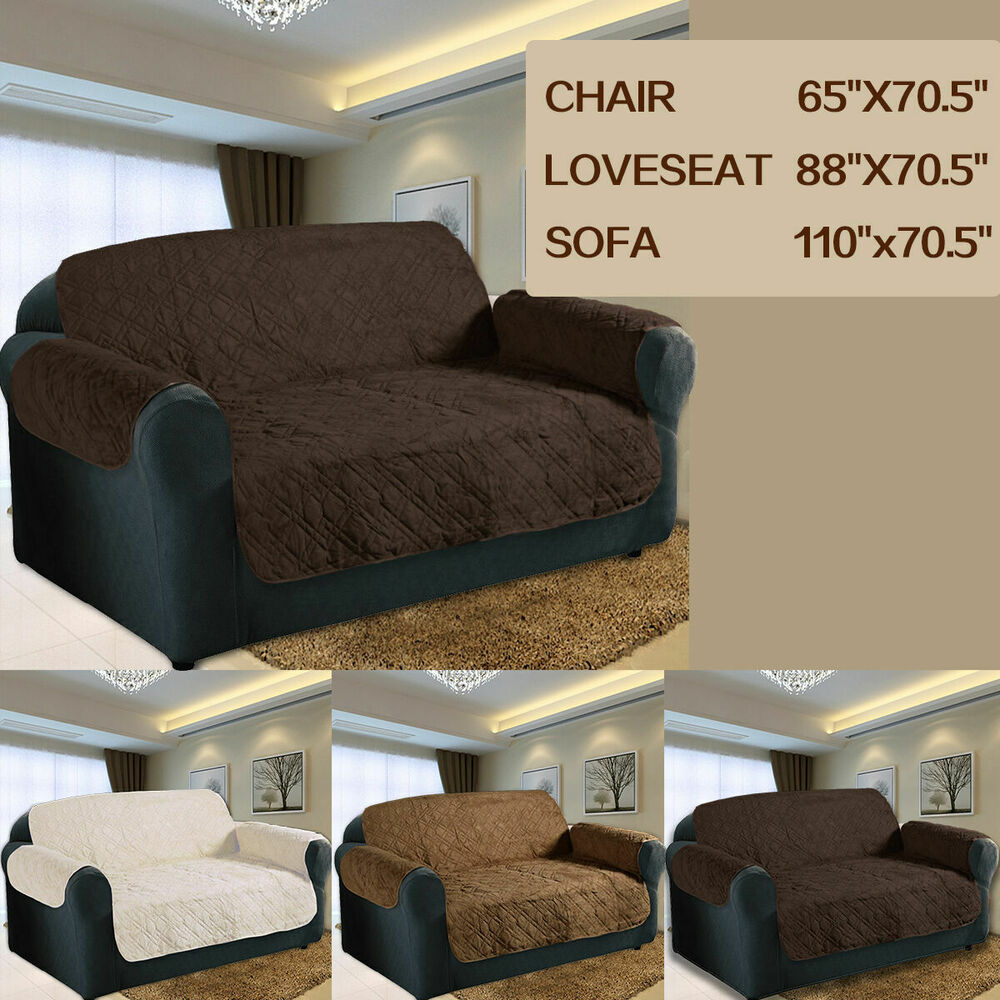 3 Colors 3 Size Quilted Sofa Chair Pet Dog Kids Furniture