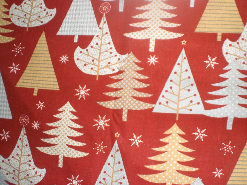 fabric holiday sparkle xmas trees of various patterns wilmington prints ebay. Black Bedroom Furniture Sets. Home Design Ideas