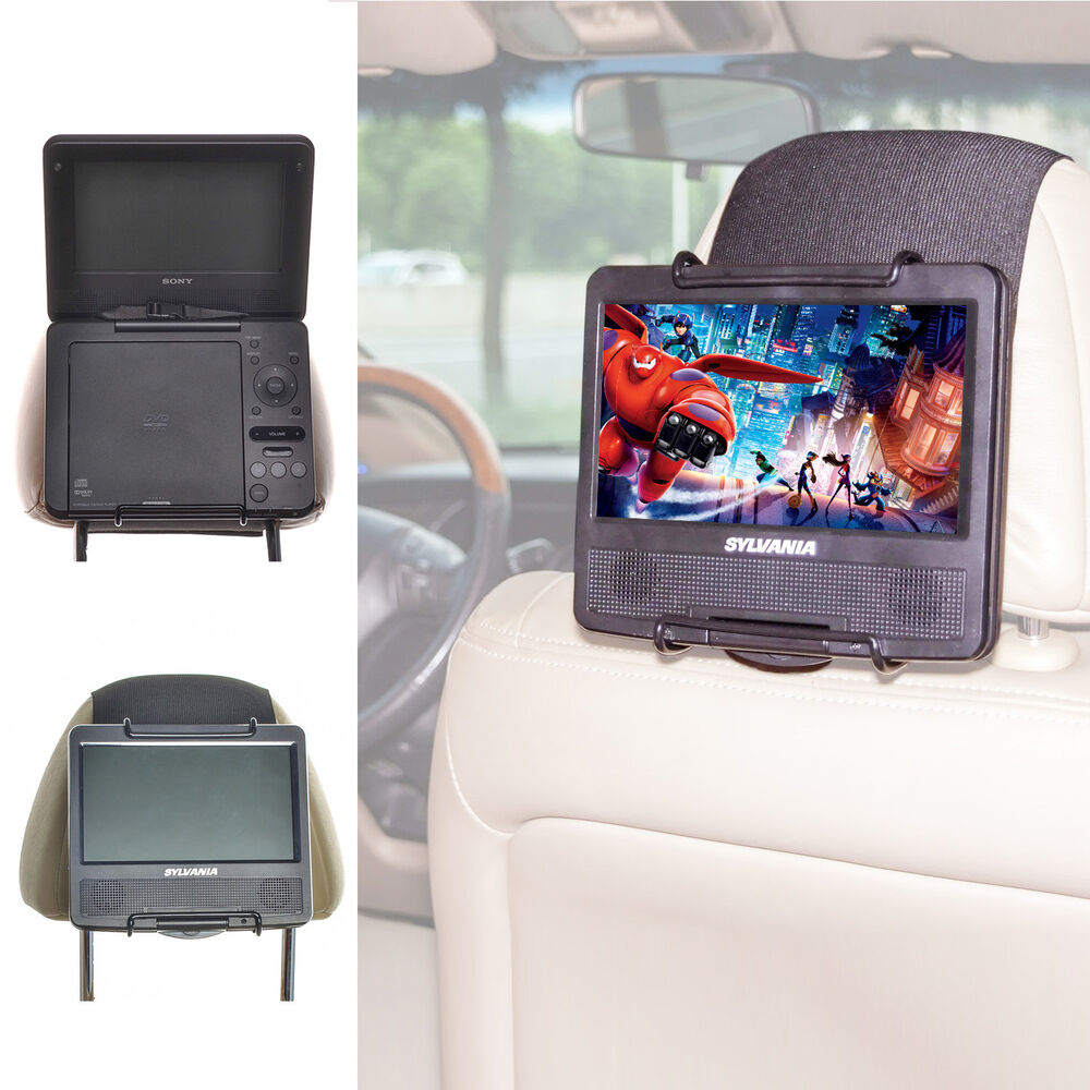 tfy universal car headrest mount holder for portable dvd. Black Bedroom Furniture Sets. Home Design Ideas