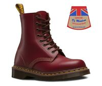 Dr Martens 1460 Made In England MIE Oxblood Quilion Leather Ankle Doc Boots