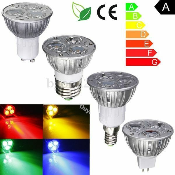 gu10 e27 mr16 e14 3 led light lamp bulb spot light ac 220v red blue yellow green ebay. Black Bedroom Furniture Sets. Home Design Ideas