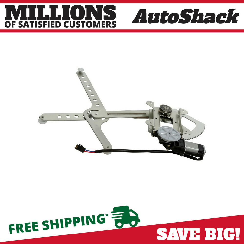 New Power Window Regulator W  Motor Front Driver Side For