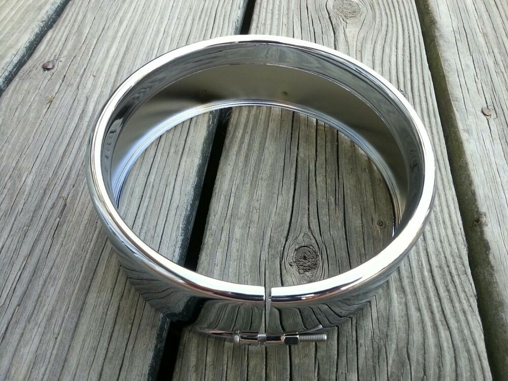 Chrome frenched style headlight trim ring 5 in rpls Style me up fashion trim rings