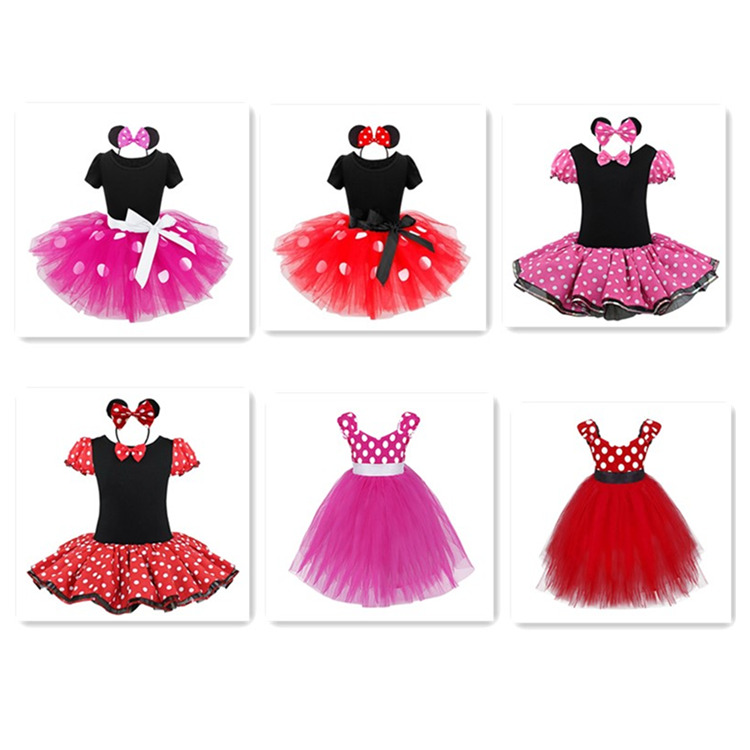 Toddler Girls Christmas Minnie Mouse Cosplay Costume Fancy