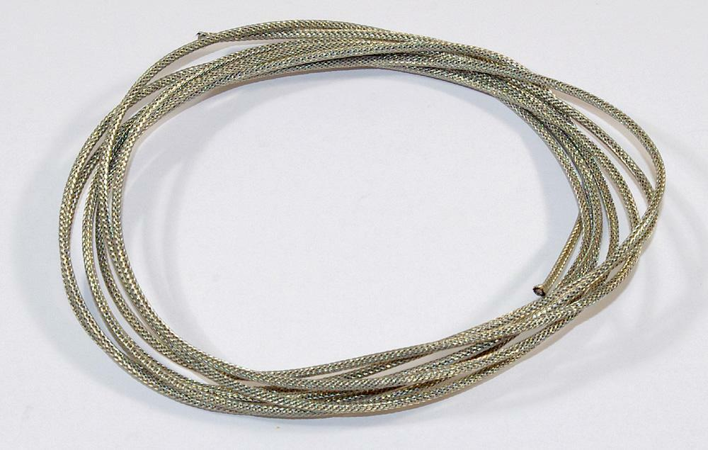 8 vintage style cloth wire braided metal shield single conductor ala gibson ebay