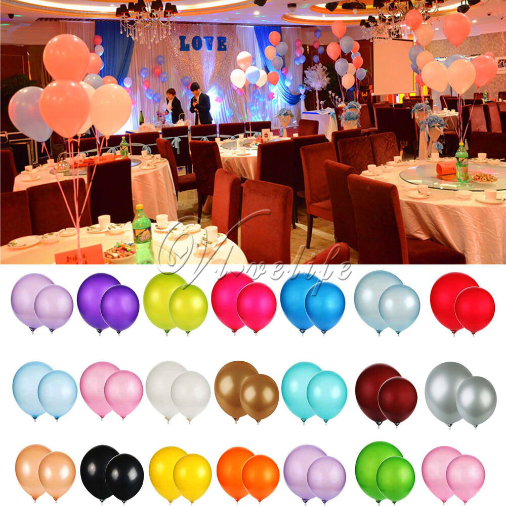 12 inch latex helium balloon wedding party birthday for Balloon decoration ideas no helium