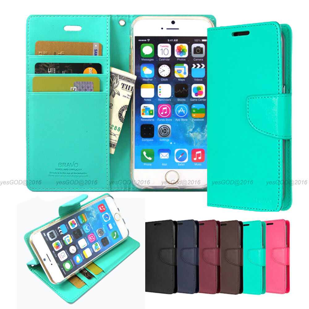 Slim Flip Leather Wallet Case Cover Transparent For Iphone 5 5s 6 6s Goospery Samsung Note Bravo Diary Wine Red 7 Plus Lot Ebay