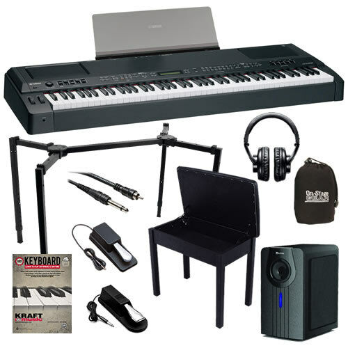 yamaha cp300 stage piano complete home bundle ebay. Black Bedroom Furniture Sets. Home Design Ideas