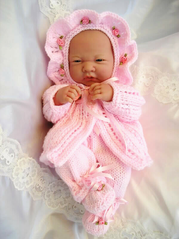 Knitting Patterns For Baby Newborn Doll : BABY DOLLS KNITTING PATTERN MATINEE SET FOR 14-15 ...