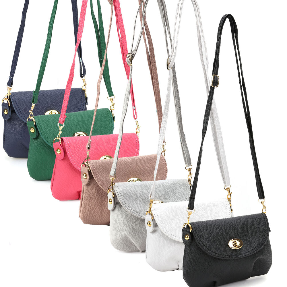 Ladies Small Satchel Leather Handbag Crossbody Shoulder ...