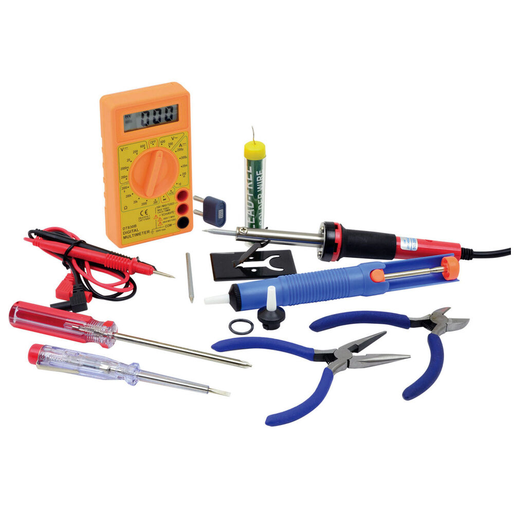 electronics hobby tool set soldering iron multimeter full kit mercury ebay. Black Bedroom Furniture Sets. Home Design Ideas