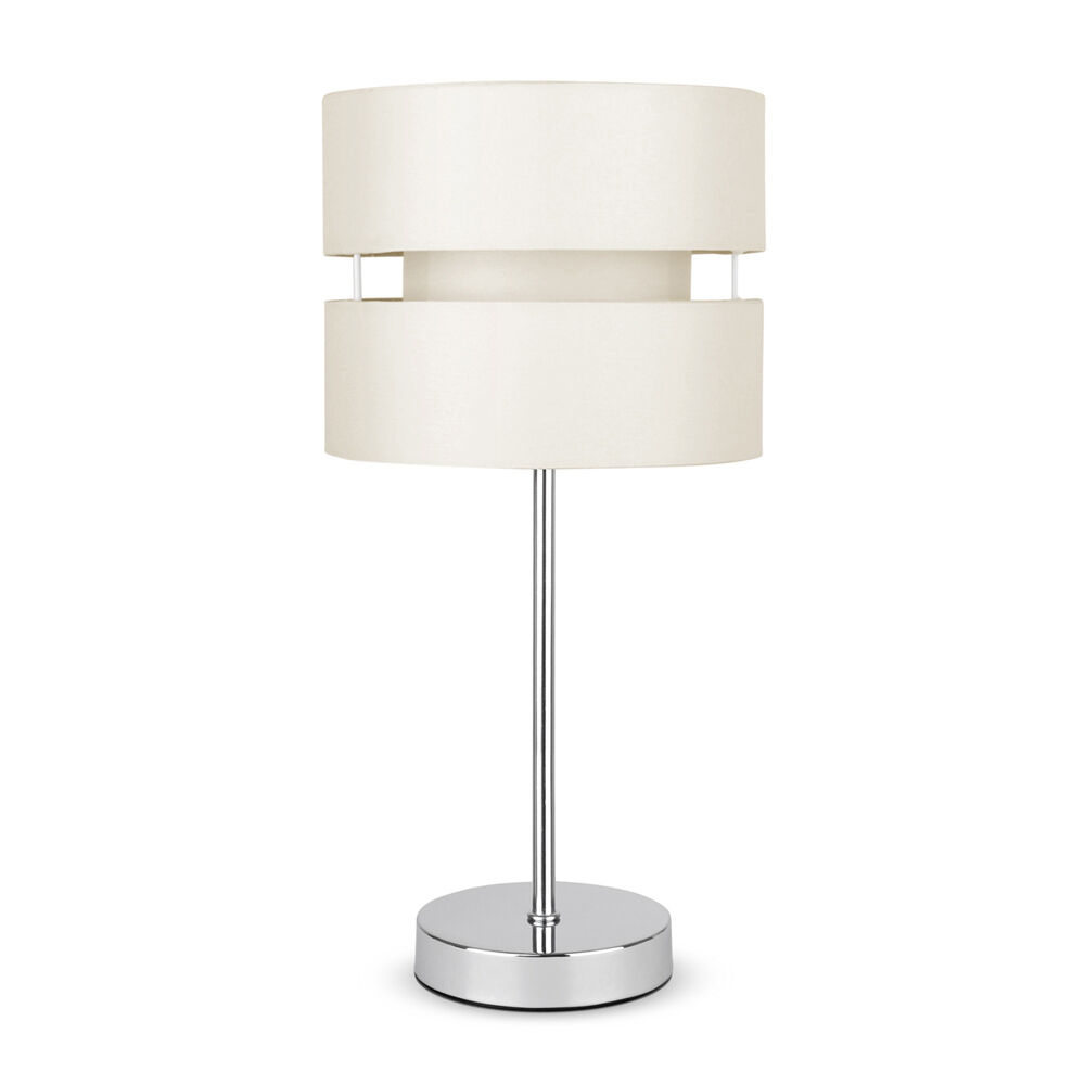Modern Silver Chrome Cream Touch Dimmer Bedside Table Lamp Lights Lamps New Ebay