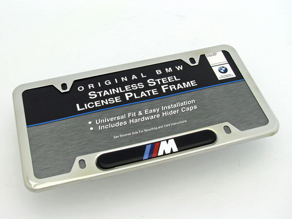 bmw m logo license plate frame oem polished ebay. Cars Review. Best American Auto & Cars Review