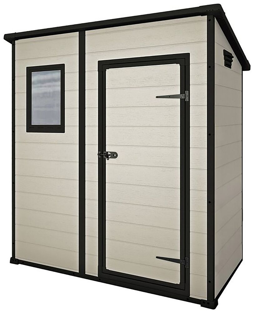 Keter designer pent plastic garden shed 6 x 4ft from for Garden shed keter