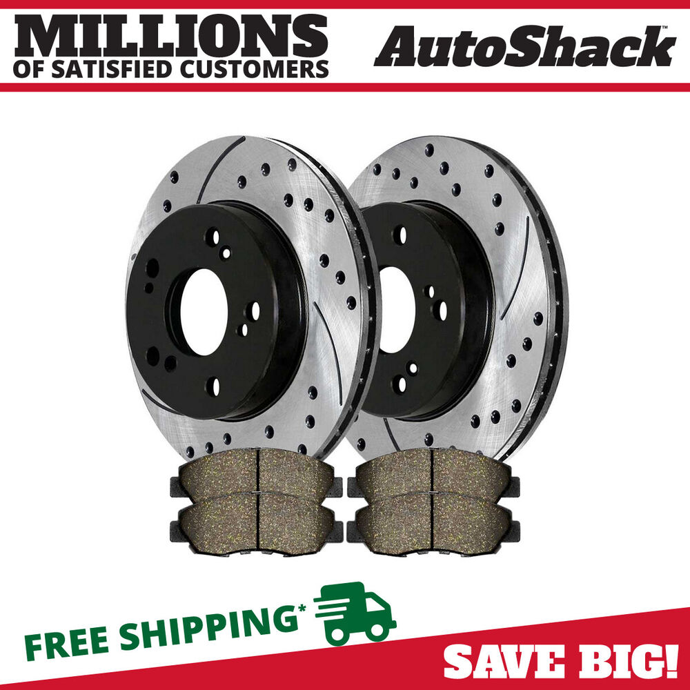 Front Performance Drilled Slotted Brake Rotors Amp Ceramic