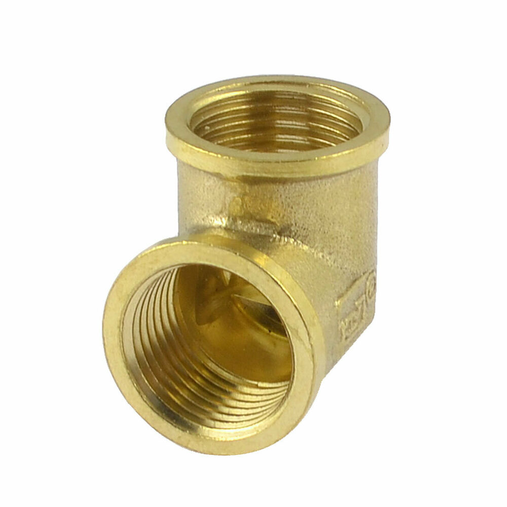 Right Angle Union : Brass quot npt female thread right angle pneumatic elbow