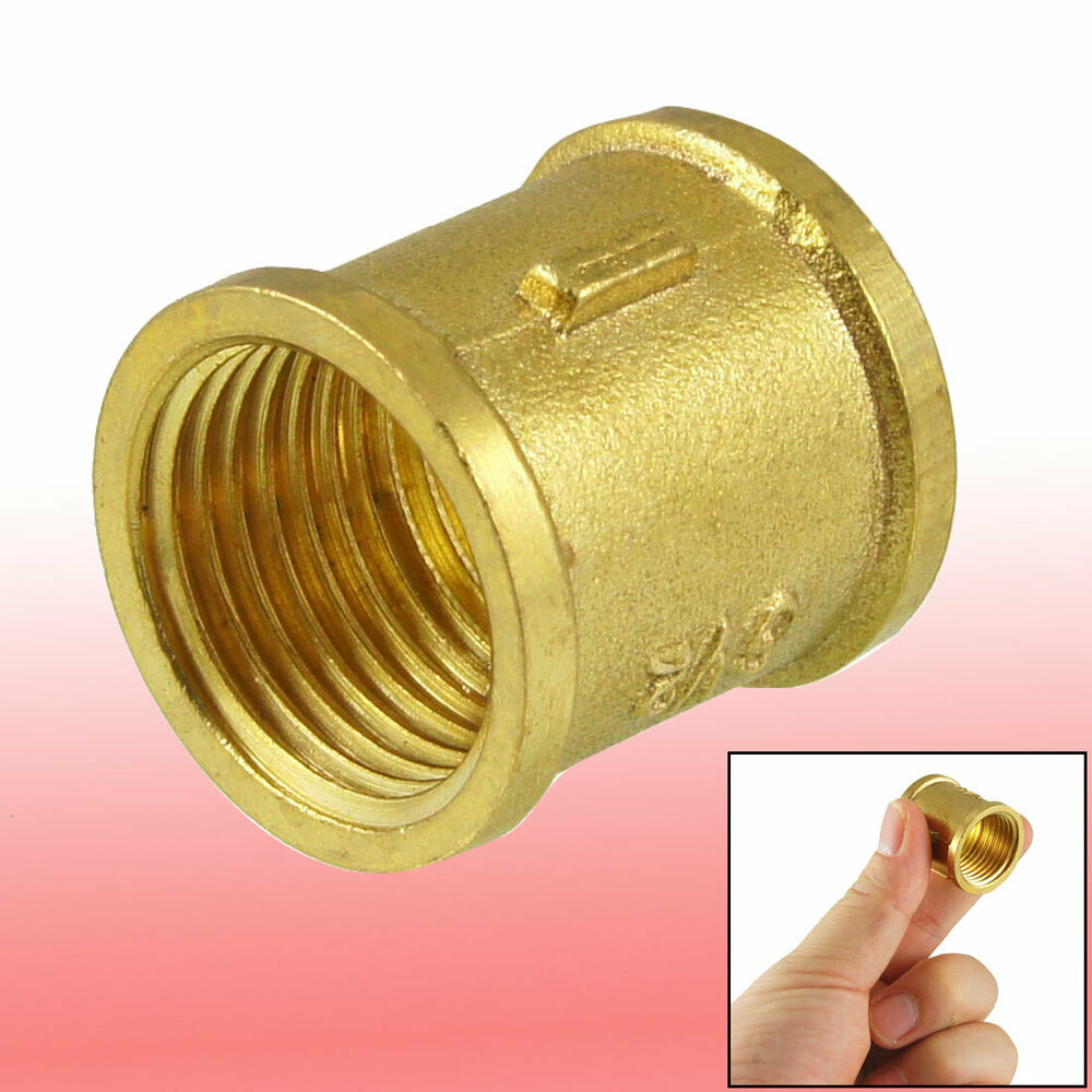 G quot female thread brass straight coupling connector for