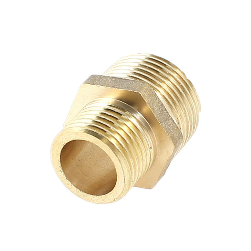 Brass pt male to thread pipe hex reducing