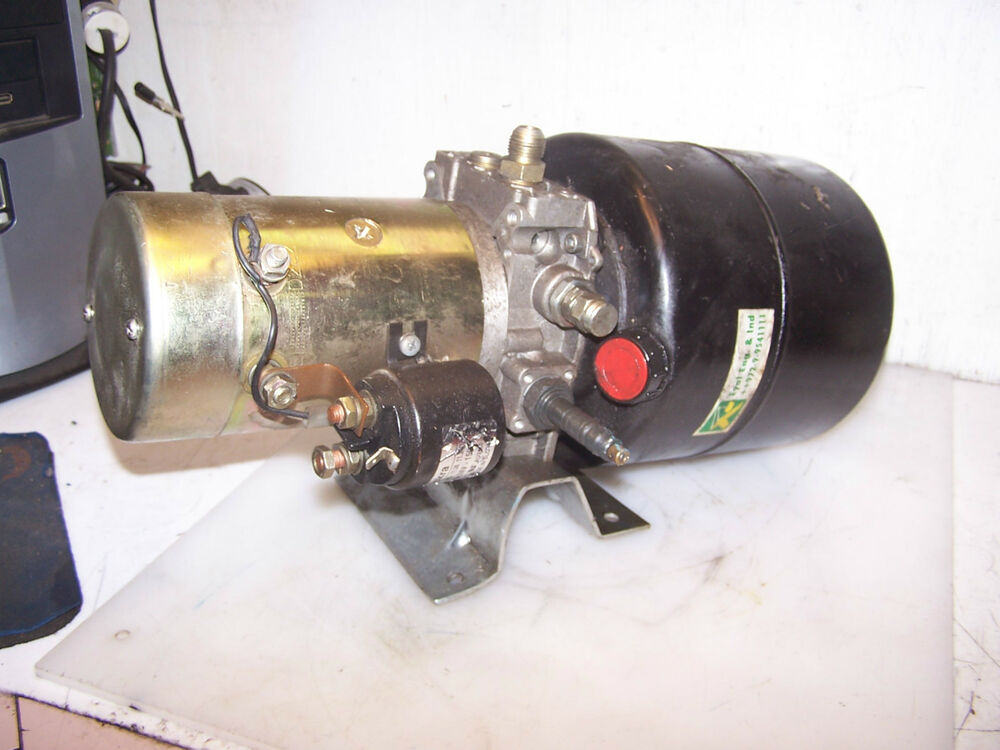 Iskra ard 1138 double acting hydraulic power unit 24 vdc for Hydraulic pump motor units