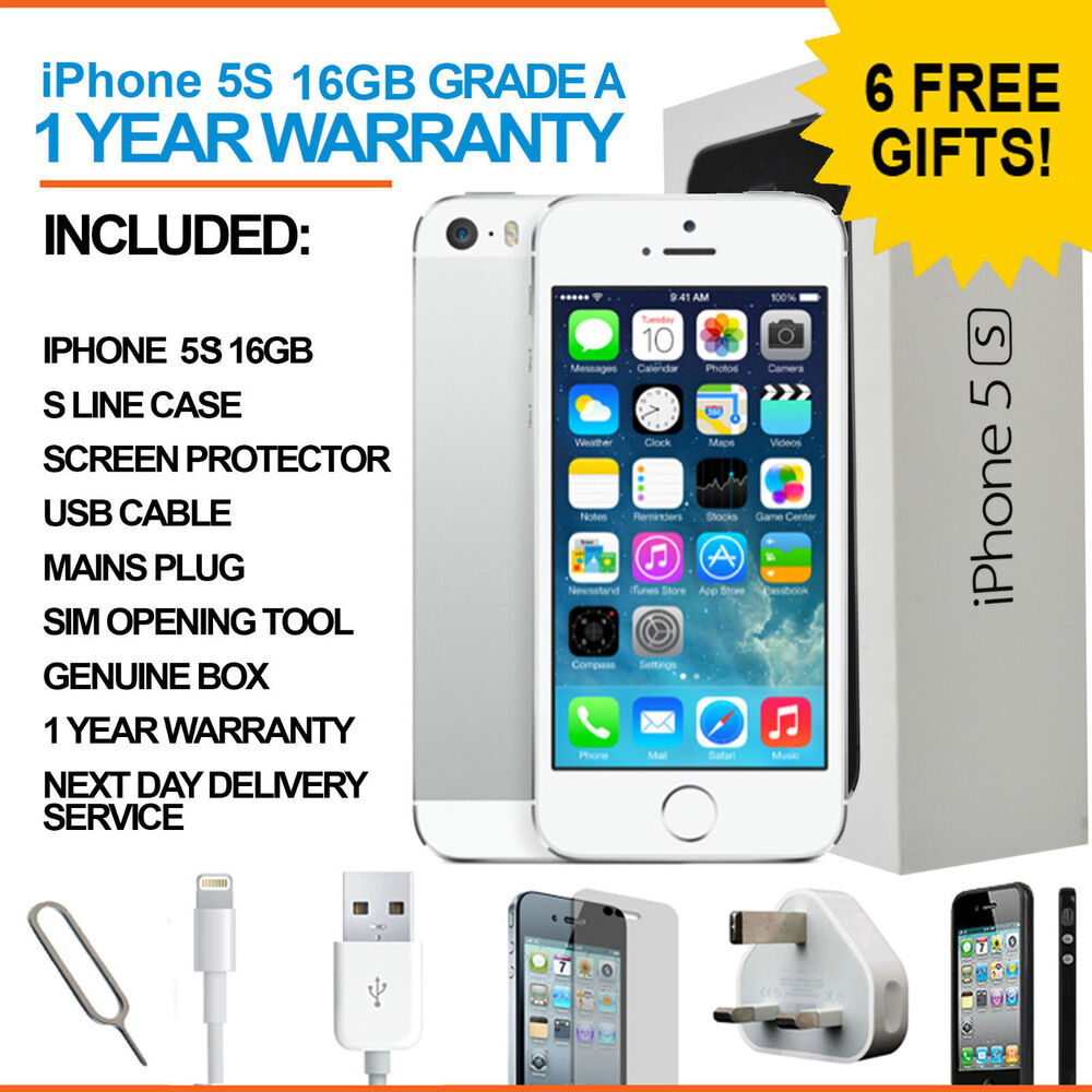 iphone 5s for free apple iphone 5s 16 gb silver white sim free unlocked 14797