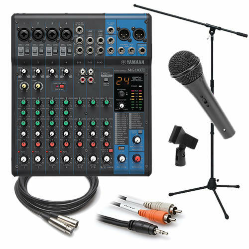 yamaha mg10xu 10 channel compact stereo mixer usb interface essentials bundle ebay. Black Bedroom Furniture Sets. Home Design Ideas