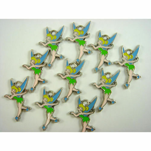 10 pcs Tinker Bell TinkerBell Jewelry Making Metal Figures ...