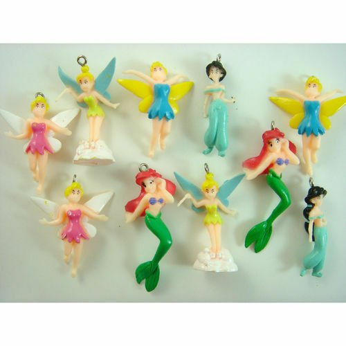 10 pcs Tinkerbell Fairy Colorful DIY Jewelry Making Figure ...