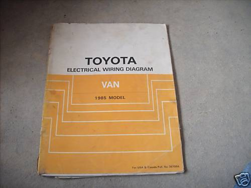 1985 Toyota Van Electrical Wiring Diagram Troubleshooting