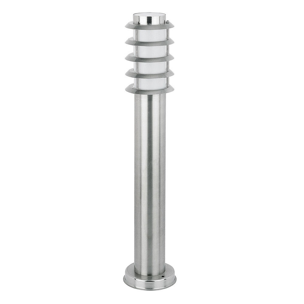 modern stainless steel chrome outdoor garden bollard