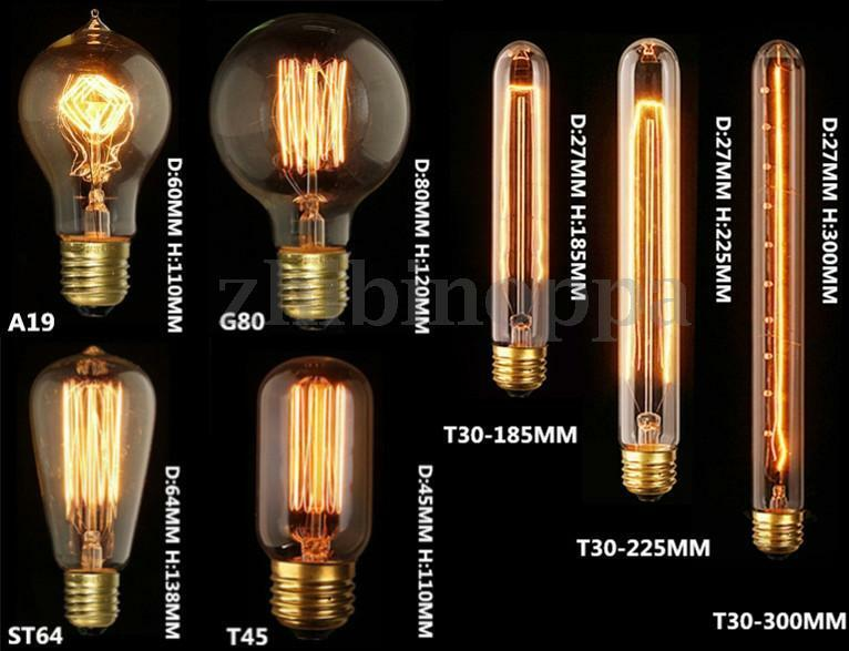 e27 e14 b22 40w 60w filament light bulb vintage retro antique style edison lamp ebay. Black Bedroom Furniture Sets. Home Design Ideas