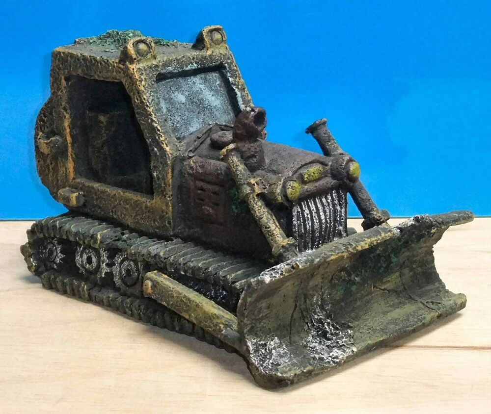 Bulldozer large wreck aquarium ornament fish tank bowl for New fish tank