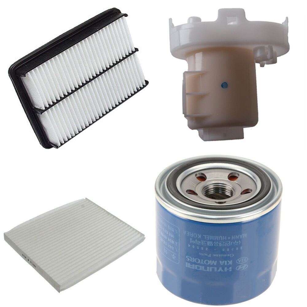 Tune Up Kit With Air Oil And Fuel Filters Fits Hyundai