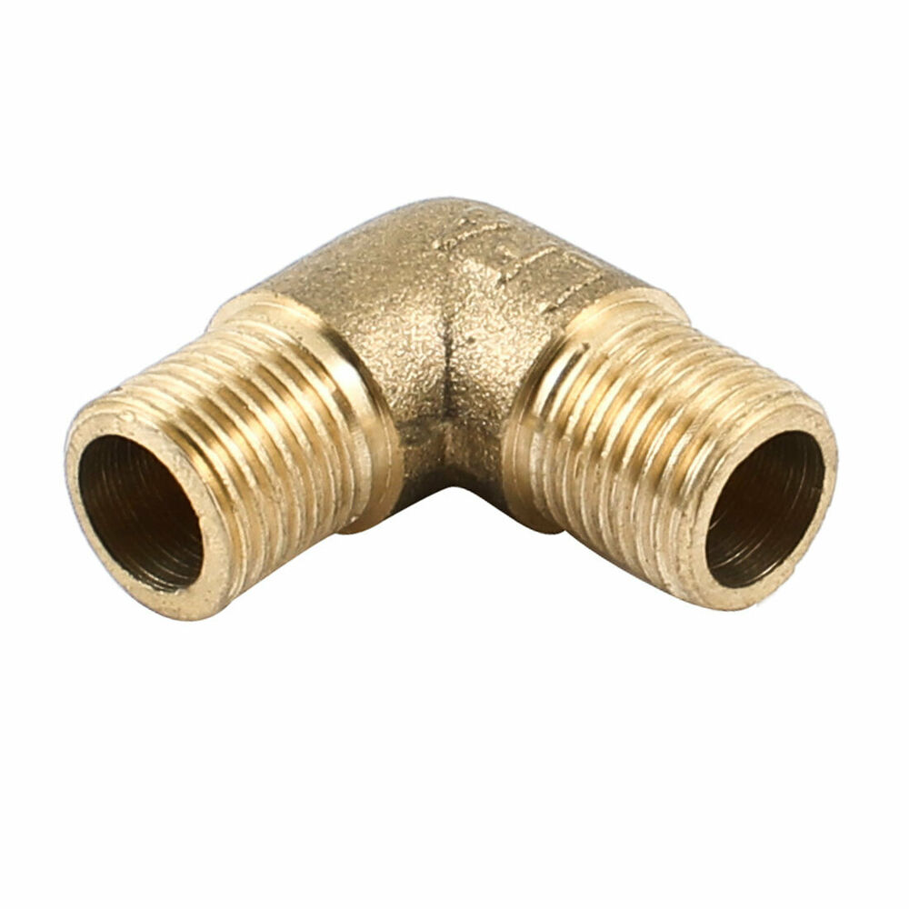 Brass degree elbow quot pt male to pipe