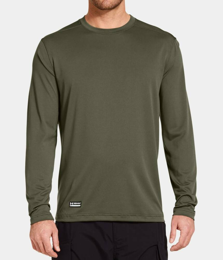 Under armour 1248196 men 39 s tactical ua tech long sleeve t for Under armour brown t shirt