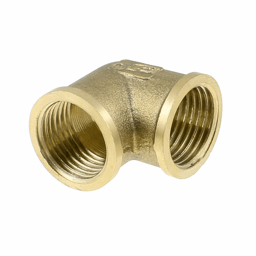 Right Angle Coupler : Brass right angle equal elbow adapter pipe fitting coupler