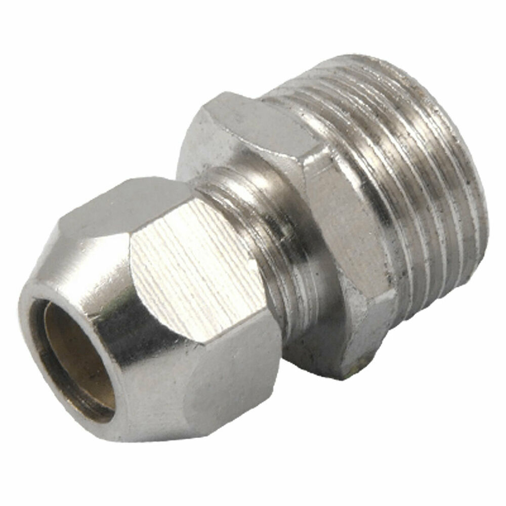 Mm air tube male thread straight connector brass