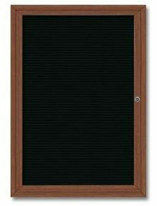 enclosed cherry finish changeable letter boards for indoor With outdoor changeable letter boards