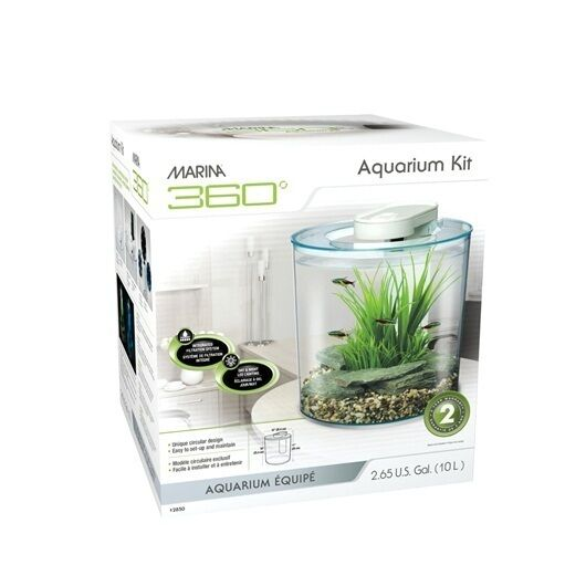 Fluval 360 nano aquarium set 10l hagen small round for Filtre aquarium rond