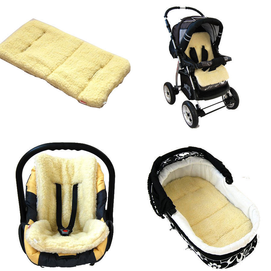 BABYLUX Lamb's Wool Pad / Insert For Baby Car Seat Or ...