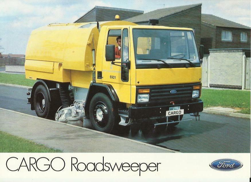 Ford cargo road sweeper truck lorry sales brochure sheet mid 80 s