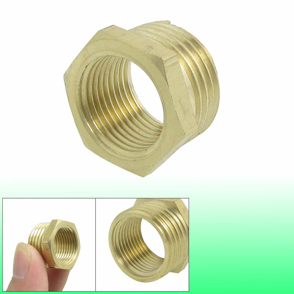 Pipe reducer mm brass hex bushing connector ulkwt