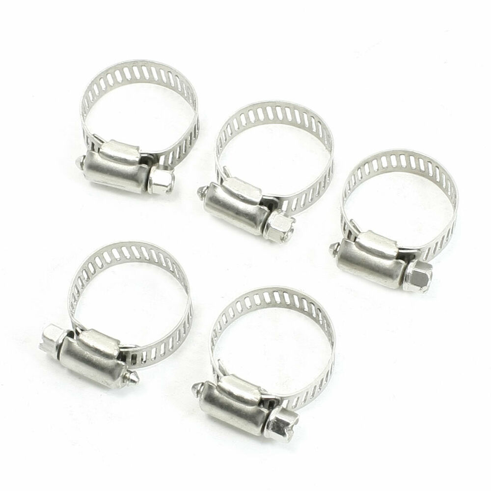 Adjustable mm stainless steel worm gear hose clamps