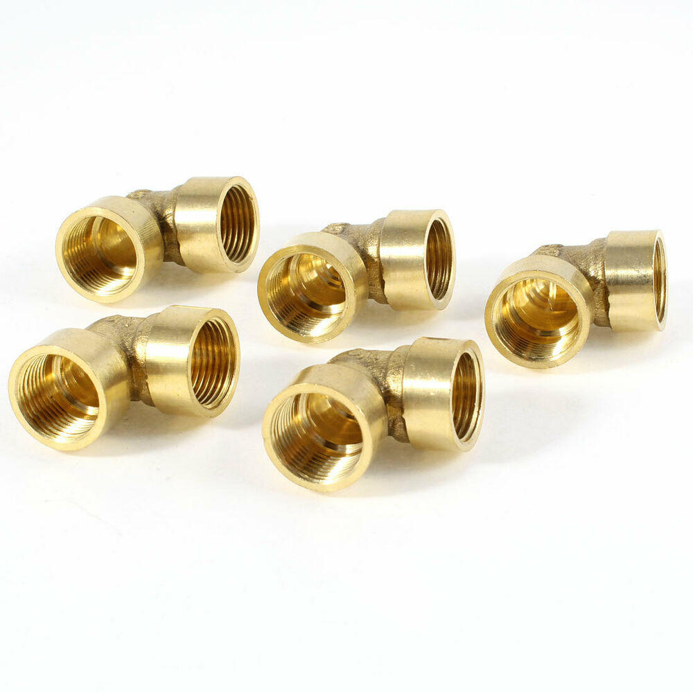 Pcs brass degree elbow quot pt female thread connector