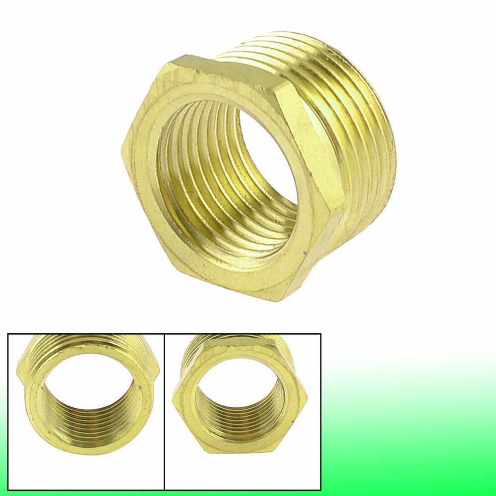 Brass quot pt male to female thread hex bushing