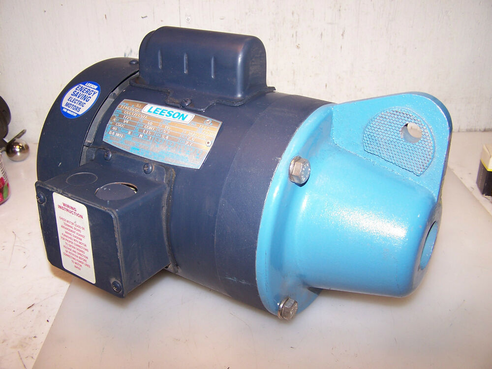 Leeson 1 4 hp electric motor 1725 rpm with 5 8 d shaft for Electric motor 1 5 hp