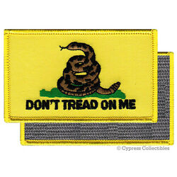 DONT TREAD ON ME GADSDEN FLAG PATCH AMERICAN YELLOW w/ VELCRO  Brand Fastener