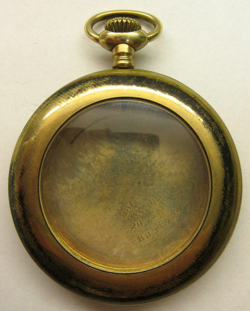 ANTIQUE OPEN FACE YELLOW GOLD FILLED WADSWORTH POCKET ... | 805 x 1000 jpeg 153kB
