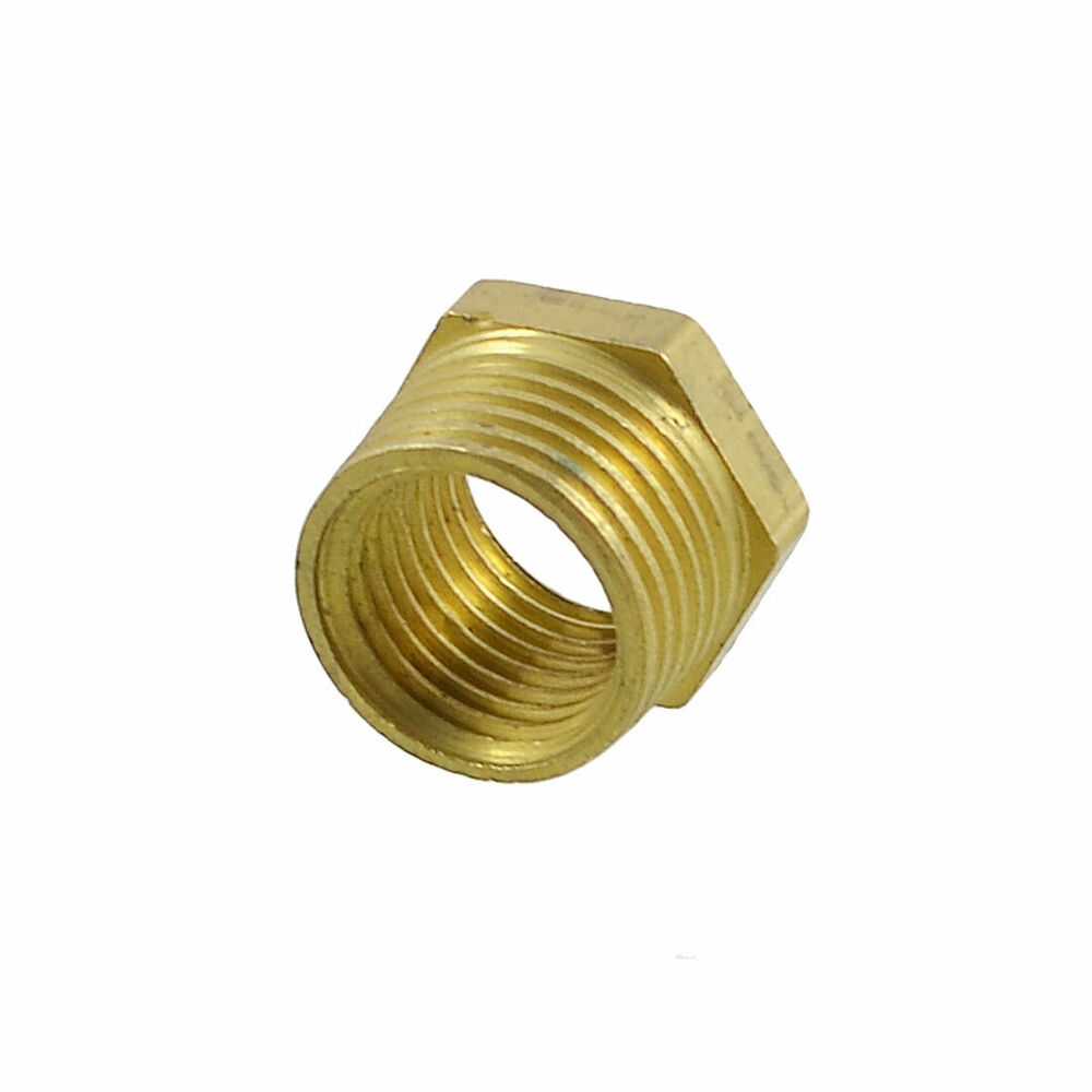 Pipe reducer bsp thread brass hex bushing